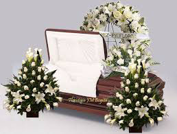 Set De Arreglos Florales Para Servicio Funerario