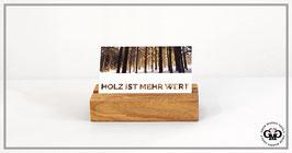Kartenhalter für Visitenkarten aus Altholz