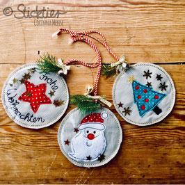 Weihnachtsanhänger, Weihnachtskugeln für Geschenke oder dem Weihnachtsbaum