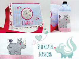 Stickdatei Nashorn 2 er Set