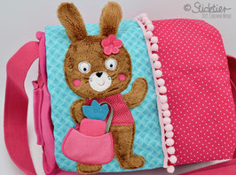 Stickdatei Hase mit Tasche und 3D - Karotte