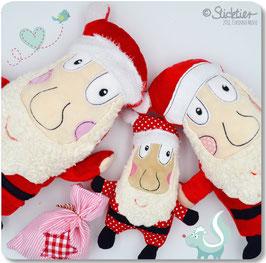 Stickdatei ITH Weihnachtsmann, Nikolaus  mit Geschenksäckchen