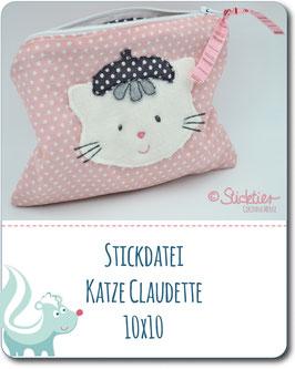 Stickdatei Katze Claudette