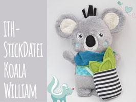 ITH Stickdatei Koala + Anleitung als PDF