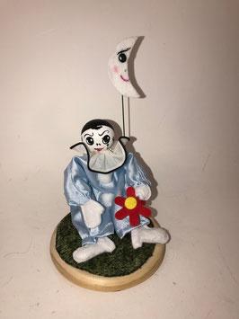 Pierrot bleu, en scène