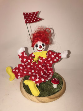 Clown rouge, mobile
