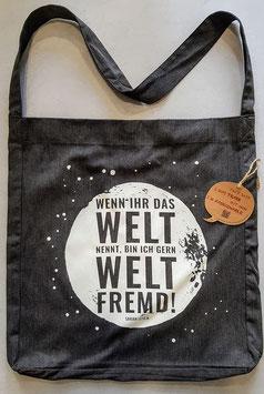 """Beutel """"Weltfremd"""""""