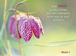 """Postkarten Motiv """"Blüten"""""""
