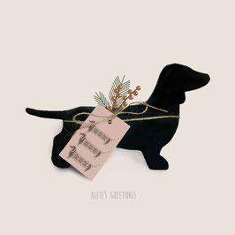 5 Gift tags - Gingerbread Dachshunds