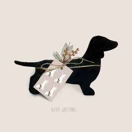 5 Gift tags - Doxies