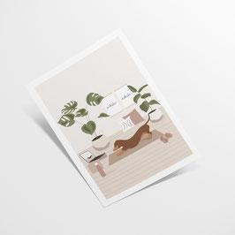 A4 Print - Downward Dog