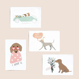 Set of four cards - free choice