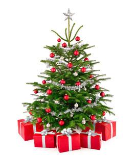 Geschmückter Weihnachtsbaum 250 cm