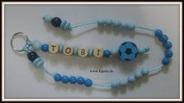 """Rechenkette """"Blau"""" Fußball + Name"""