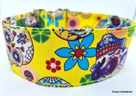 Halsband Mexican gelb / Skulls