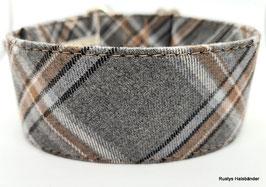 Halsband Karo braun-grau  / 112.