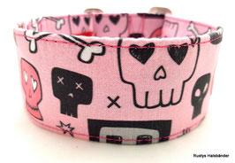 Halsband Skulls rosa  / 159.
