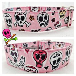 Halsband Skulls rosa  / Skulls_2