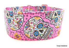 Halsband Mexican rosa / Skulls