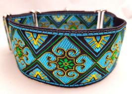 Halsband Orient gold/türkis / Schmuckborte 17.