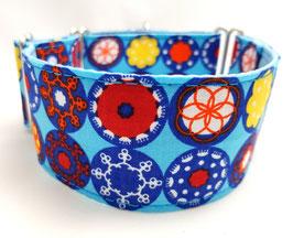 Halsband Ornamente blau / 18.