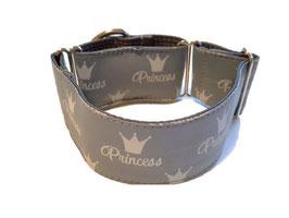 Halsband Princess grau / 80.