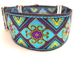 Halsband Orient lila/türkis / Schmuckborte 19.