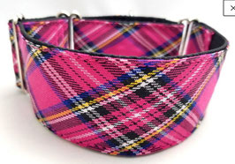 Halsband Karo pink / 110.