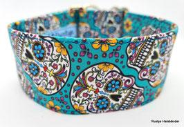 Halsband Mexican türkis / Skulls_1