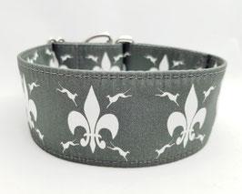 Halsband Windhund / 23. Windi Fleur de Lys grau