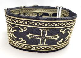 Halsband Mittelalter gold/Schwarz / Schmuckborte 25.
