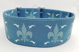 Halsband Windhund / 24. Windi Fleur de Lys blau