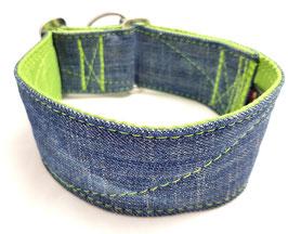 Halsband Jeans upcycling grün / 2.
