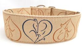 Halsband Windhund / 13. Herz beige