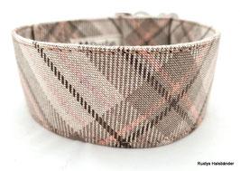 Halsband Karo natur-rosa-braun / 117.