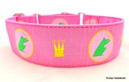 Halsband Froschkönig pink-kuss / 152a