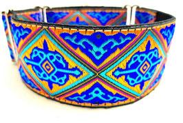 Halsband Orient gold/türkis / Schmuckborte 16.