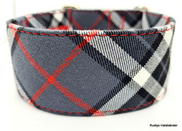 Halsband Karo grau-schwarz  / 113.