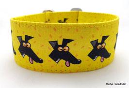 Halsband Windhund / 29. Windhundkopf gelb
