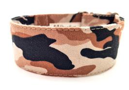 Halsband Camouflage braun / 178.
