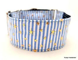 Halsband Sterne gestreift blau/gold / 87.