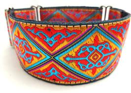 Halsband Orient rot / Schmuckborte 15.
