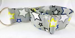 Halsband Sterne grau / 55.