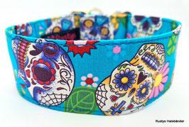 Halsband Mexican türkis / Skulls