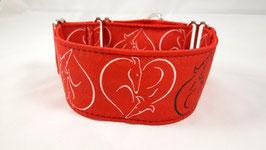 Halsband Windhund / 14. Herz rot