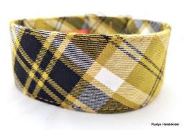 Halsband Karo senf-schwarz / 119.
