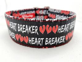Halsband Heartbreaker schwarz/rot