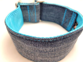 Halsband Jeans upcycling türkis / 5.