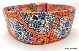 Halsband Mexican orange / Skulls