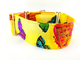 Halsband Butterfly gelb / 67.